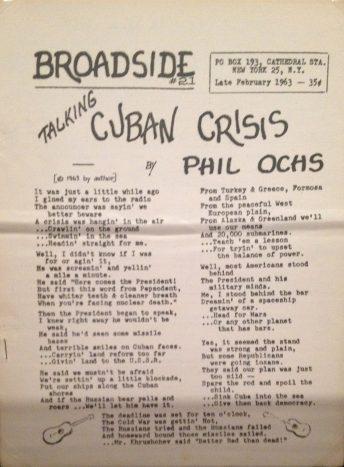 Phil Ochs Cuban crisis