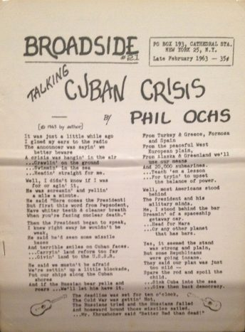 Phil Ochs Cuban crisis